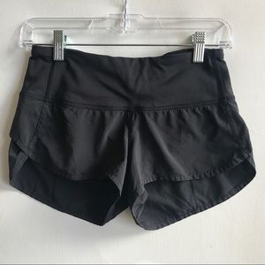 LULULEMON speed shorts 2 black